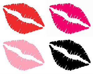Lips-Decal-Sticker-Sexy-Kiss-Mark-Hot-amp-Soft-Pink-Red-Wall-amp-Car-Bumper-Window