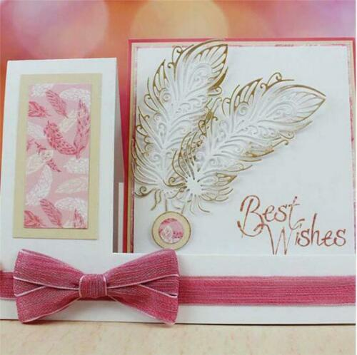 1Pcs//Metal Cutting Dies Scrapbooking Card Making DIY Embossing Cuts Feather Dies