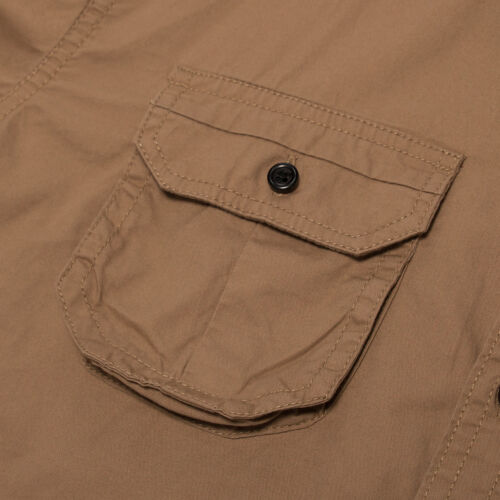 Men/'s 100/% Cotton Military Shirt Button Down Long Sleeve Casual Shirts Outdoor