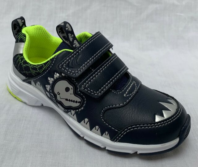 fa9fd044 Boys Clarks Dinosaur Themed Double Strap Trainers Pass Rex UK 7.5 Infant  Blue F