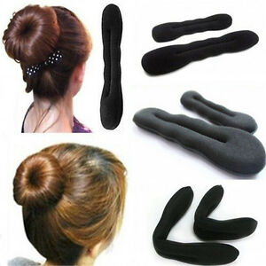 2PCS-Magic-Sponge-Clip-Foam-Donut-Hair-Styling-Bun-Curler-Tool-Maker-Ring-Twist