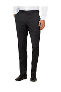 NEW-Pierre-Cardin-Textured-Charcoal-Suit-Trouser