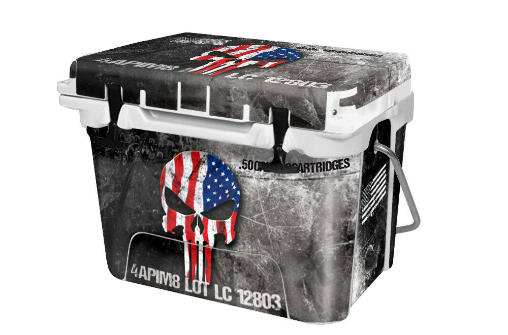 RTIC Wrap  Fits Old Mold  20qt Cooler 24mil  Full Kit USA Ammo Skull  comfortably