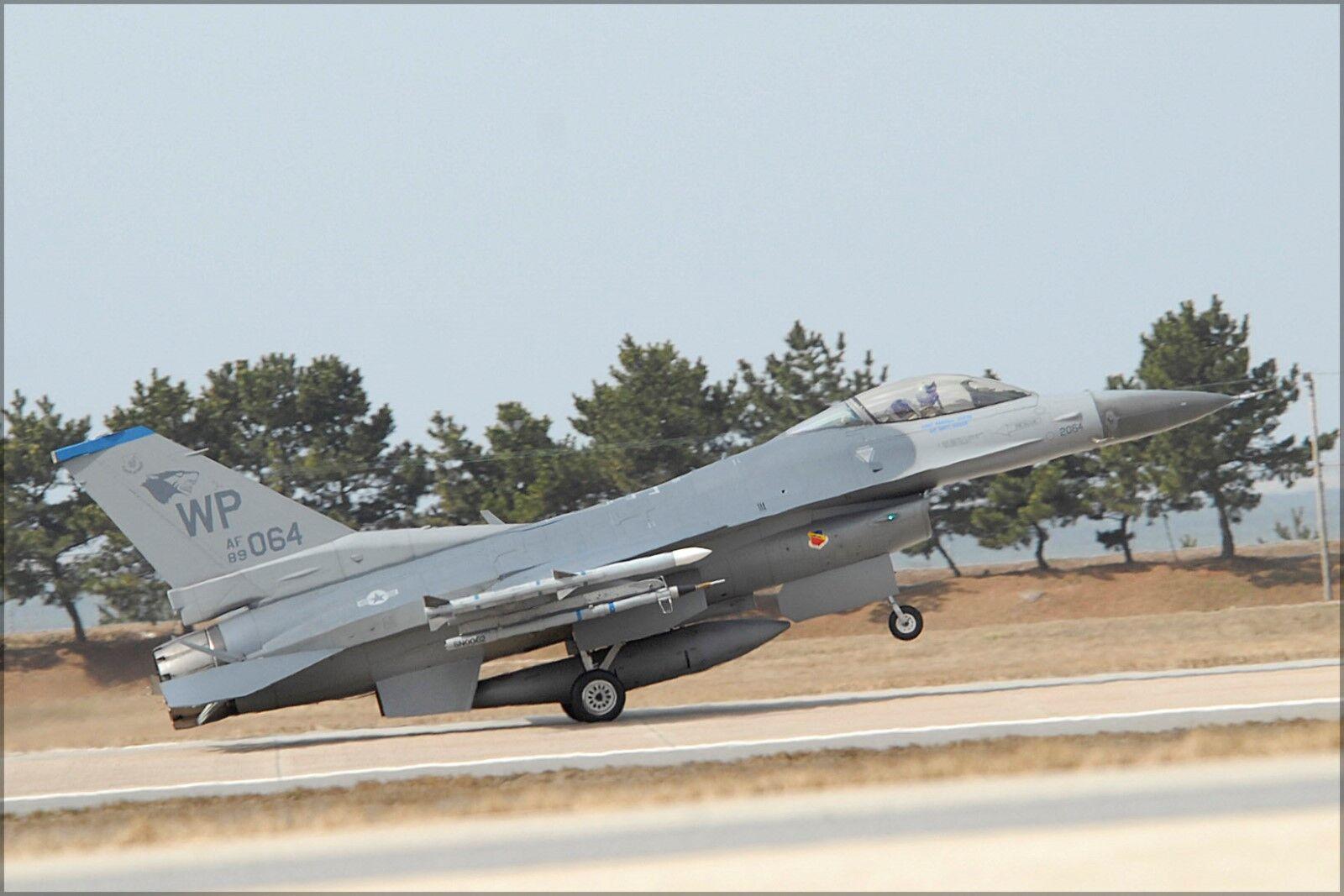 Plakat, Viele Größen ; 35. Fighter Squadron General Dynamics F 16c Block