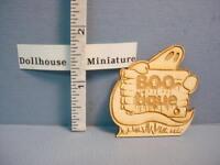 Dollhouse Miniature Boo - Tique Sign - Sp136