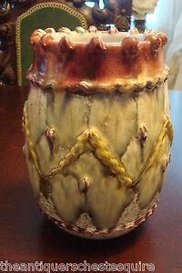 Majolica-vase-multicolor-fine-decorations-no-marks