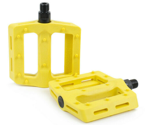 SHADOW CONSPIRACY SURFACE PLASTIC BMX BIKE PEDALS HARO SUBROSA CULT SE GT YELLOW