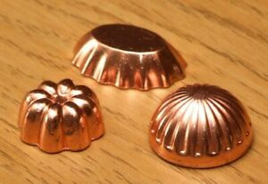 1:12 Dolls House Copper Jelly Moulds