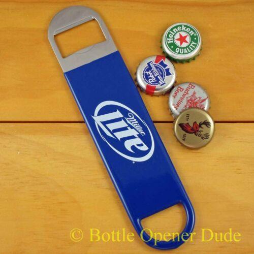 Miller Lite Speed Bar Blade Opener Vinyl Coated Open Your Bottles Like A Pro!