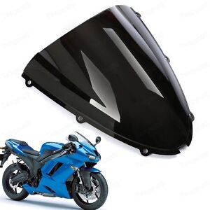 Image Is Loading Double Bubble Windshield For Kawasaki Ninja ZX6R 2005
