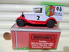 1994 Matchbox 2nd EUROPEAN MICA CONVENTION MB38 MODEL A Ford Van Mint in Box