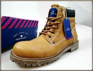 huge discount 746c9 a864a Details zu Tom Tailor Stiefel Schnürstiefel Gr.42 Herren Schuhe braun camel  8581001