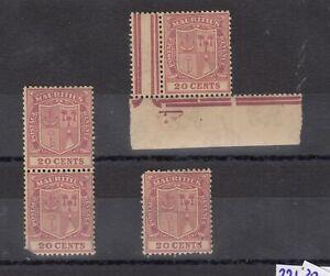 Mauritius-KGV-1921-20c-x-4-SG221-MNH-J7235