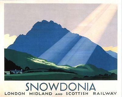 Vintage LMS Snowdonia Railway Poster A3/A2 Print