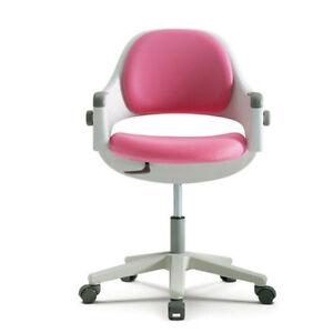 Sidiz junior computer chair ringo pink adjustable backrest swivel step