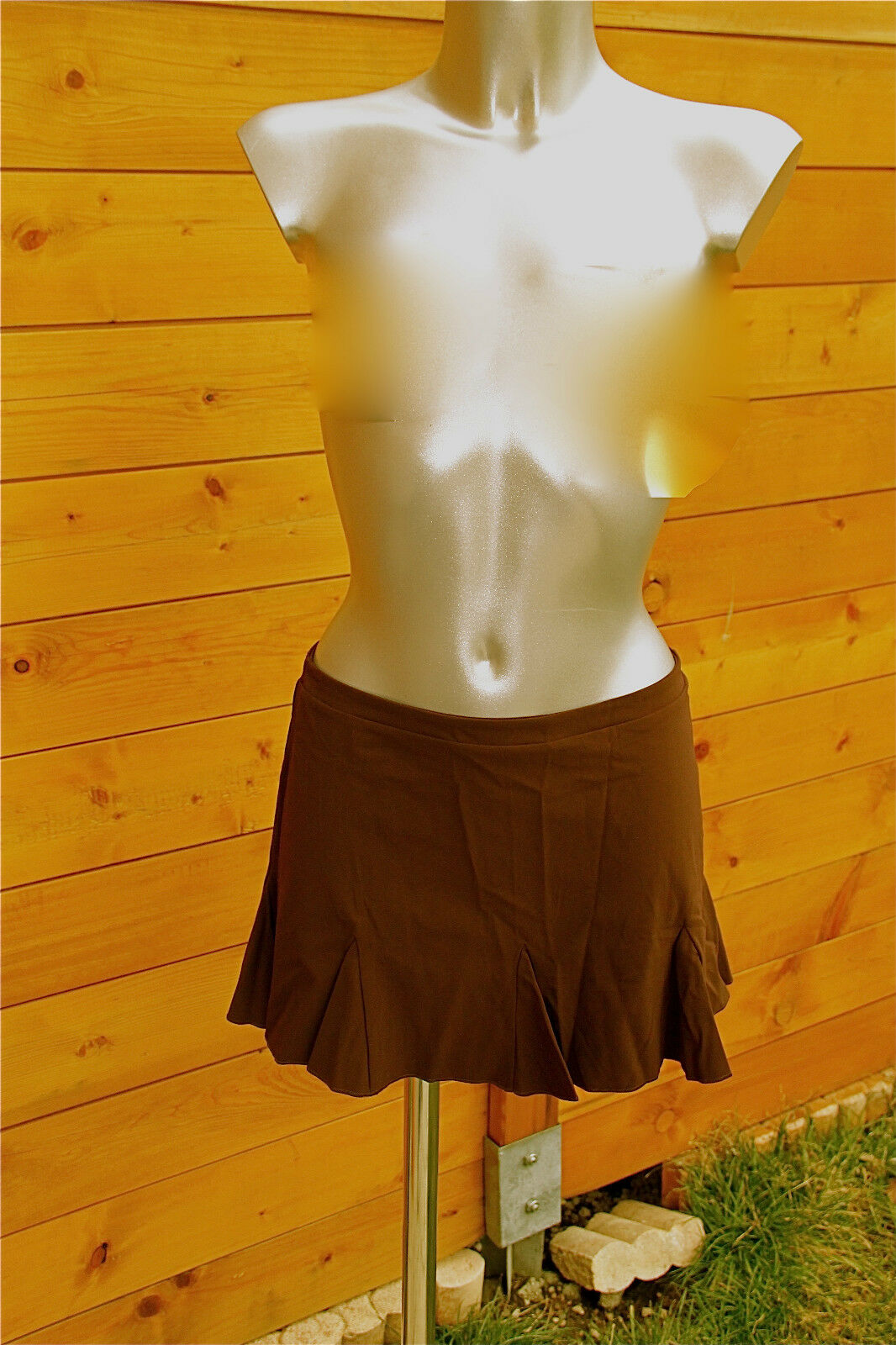 Mini skirt brown luxe VANNINA VESPERINI size 40 NEW LABEL value