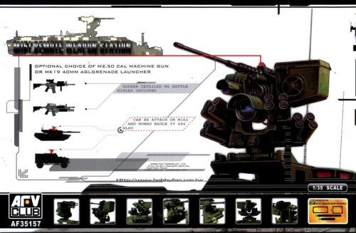 AFV Club 1//35 AF35157 M151 Remote Weapon Station M2 .50 Cal MG or MK19