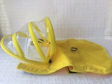 Push Pashi Yellow Small Dog Raincoat With Rain Hat Attached  XS