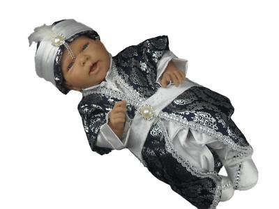 Baby Taufanzug Festanzug Mevlütlük Sünnetlik 5-tlg Hellblau Sehzade Gr.62//68