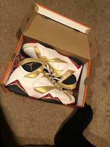 check out e5c95 09cf7 Details about nike air jordan retro 7 olympic (custom)