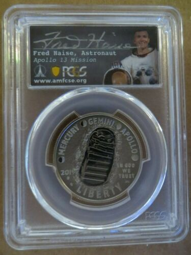 2019 S Apollo 11 Shoe First Day of Issue PCGS PR70DCAM 50th Anniversary Haise