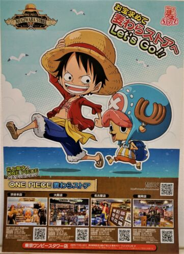 ONE PIECE WANTED POSTER LUFFY /& LATEST NEWS OFFICIAL MUGIWARA STORE BRAND NEW FS