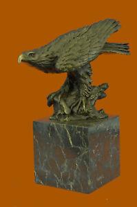 Original-Hot-Cast-American-Eagle-Lost-wax-Bronze-Sculpture-Statue-Figurine-Sale