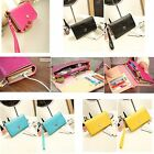 Fashion Women Flip Wrist Bag Coin Purse Phone Card Holder Bag Wallet PU Leather