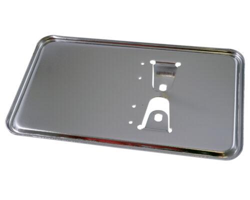 Kennzeichenhalter Platte in Chrom 100x175 mm