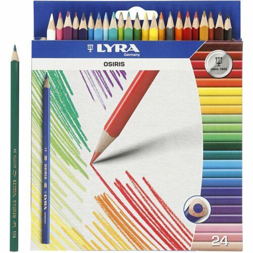 Lyra Osiris Coloured Pencils 24 Assorted Bright Colours Tri Perm 2.8mm Lead 1240