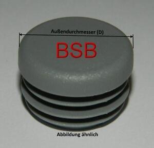 """schwarz Kappen 1 1//2 /"""" 10 Lamellenstopfen Ø 48,0 mm WS 3,0 bis 4,0 mm rund"""