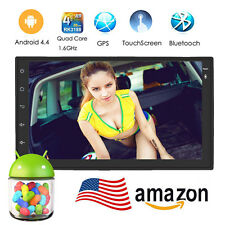 7inch Android 4.4 Double 2 Din InDash Car No DVD Radio Stereo Player WiFi 3G GPS