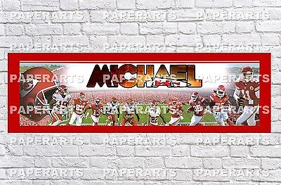 Personalized Ohio State Buckeyes Name Poster with Border Mat Art Decor Banner