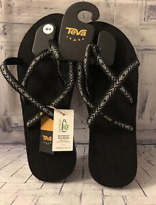 Teva Olowahu Flip Fops Himalaya Black Straps Size 9 Womens