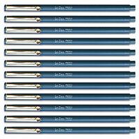 Uchida Oriental Blue Le Pen .3mm Micro Ex Fine Synthetic Point 12 Pens
