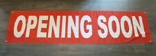 New Opening Soon Sign Now Open Coming Flag Big 2 X 8 Feet Outdoor Vinyl Mesh