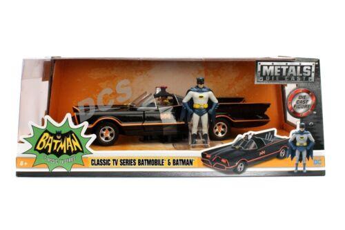 Jada Metalle Klassisch Tv Serien 1966 Batmobile 1//24 With Batman Robin Figur