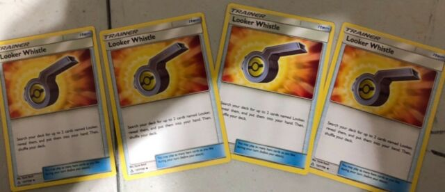 4X Looker Whistle - Sun and Moon: Ultra Prism (127/156) UNCOMMON MINT PACK FRESH