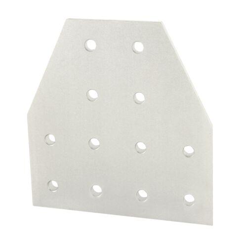 80//20 Inc T-Slot Aluminum 12 Hole Tee Flat Plate 15 Series #4325 N