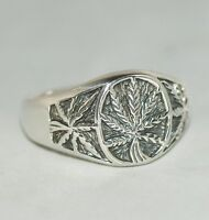 The Leaf; 925 Sterling Silver Ring [ Gb Size: V ]