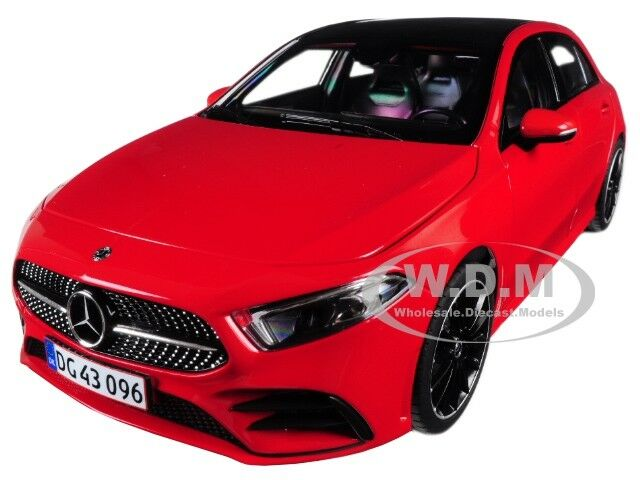2018 MERCEDES BENZ A CLASS W/ SUNROOF rosso 1/18 DIECAST MODEL CAR BY NOREV 183594