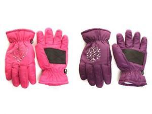 Enfants Filles Gants de ski cloutées Gem Design Hiver Chaud Confortable Outdoors