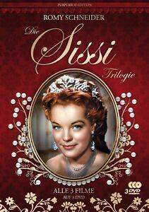 Sissi-Trilogie-1-3-Purpurrot-Edition-Romy-Schneider-Filmjuwelen-3-DVDs