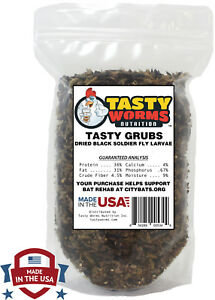 1 lbs Tasty Grubs Dried Black Soldier Fly Larvae Healthier Than Dried Mealworms