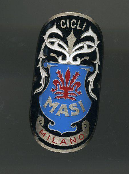 Biciclette Masi Milano Metal Headbadge  - Big type for big size frame  free shipping worldwide