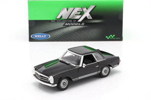 Mercedes-benz 230 SL hardtop año de construcción 1963 negro 1:24 Welly w113