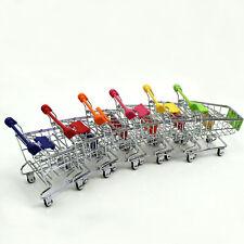 Mini Supermarket Shopping Cart Handcart Shopping Utilty Mode Storage Cart Toy FZ
