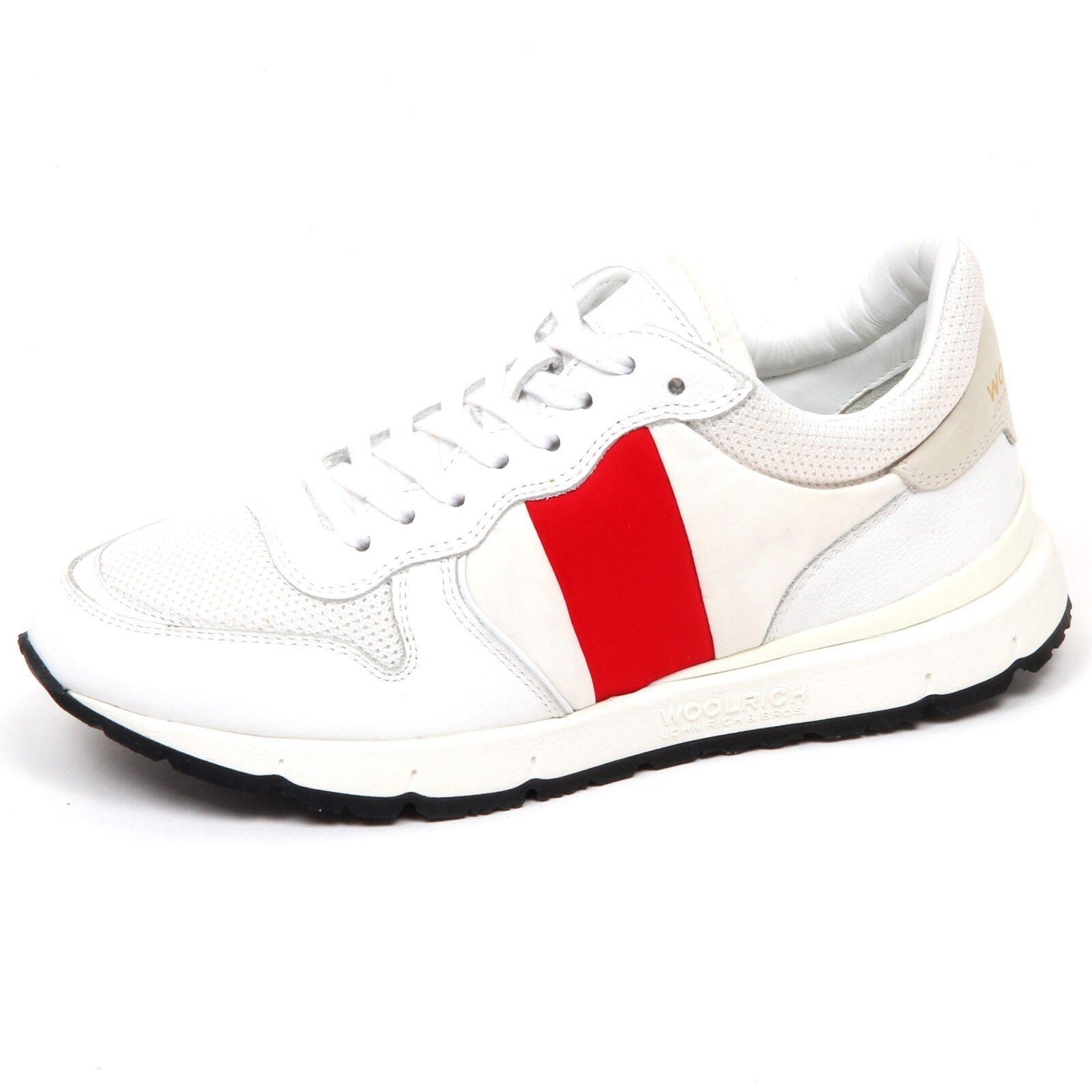E9468 Womens Sneakers White Red Woolrich John Rich & Bros shoe woman