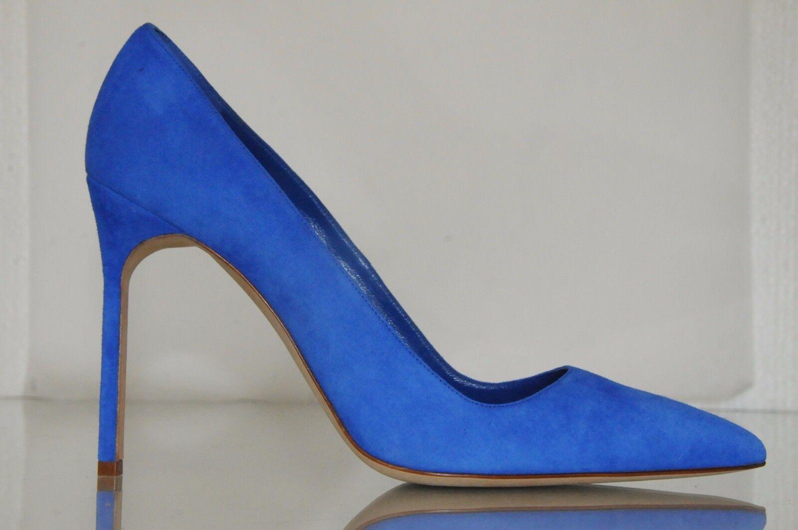 Neuf Manolo Blahnik Bb 105 Bleu Cobalt Mariage Chaussures Daim Talons 40.5 41.5 Mariage Cobalt d3cec2