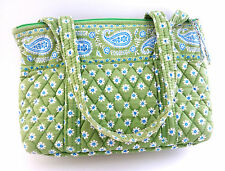 Vera Bradley Apple Green Little Betsy Shoulder Bag Handbag Purse Retired Pattern